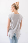 Victoria V Cutout In Gray-[option4]-[option5]-[option6]-[option7]-[option8]-Womens-Clothing-Shop