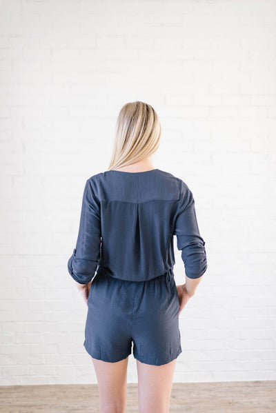 Walk With Me Romper in Navy-[option4]-[option5]-[option6]-[option7]-[option8]-Womens-Clothing-Shop