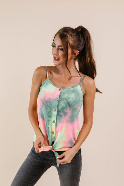 Wild N Tie Dyed Tank Green-[option4]-[option5]-[option6]-[option7]-[option8]-Womens-Clothing-Shop