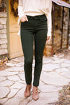Wine And Dine Colored Jeans In Spruce-[option4]-[option5]-[option6]-[option7]-[option8]-Womens-Clothing-Shop