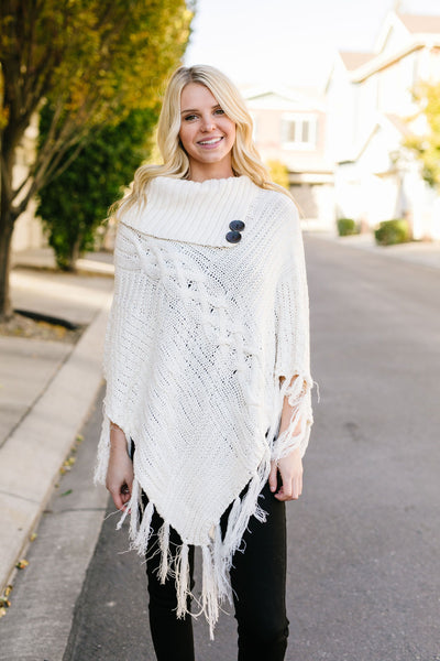 Working Overtime Sweater Poncho In Ivory-[option4]-[option5]-[option6]-[option7]-[option8]-Womens-Clothing-Shop