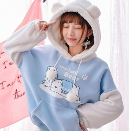 Blue Polar Bear Sweatshirt