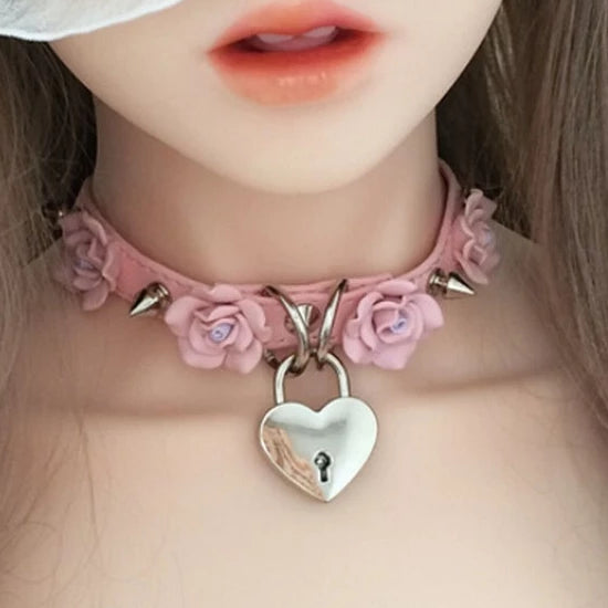 Flower Locket Collar (8 Styles Available)
