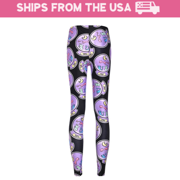 Crystal Ball Kitten Leggings