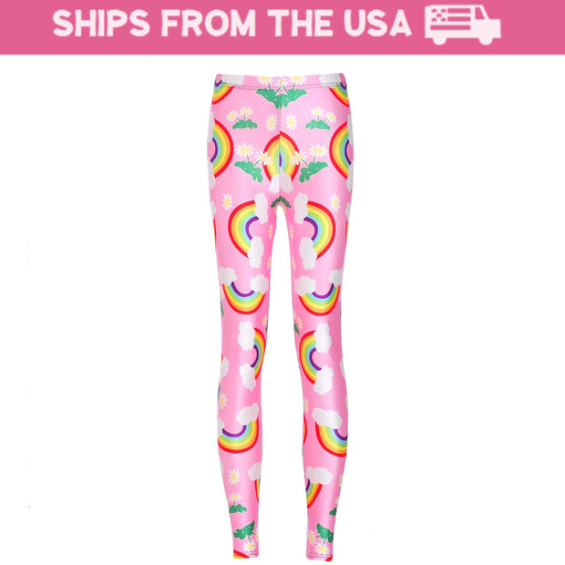 Pink Rainbow Leggings
