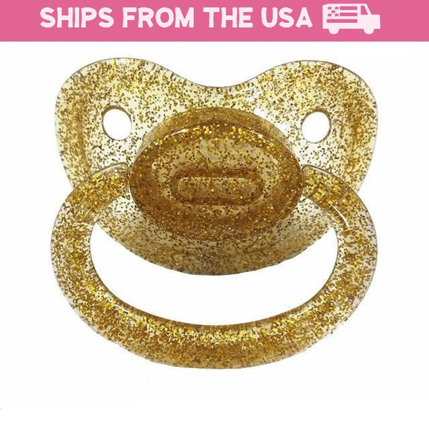 Gold Shimmer Adult Pacifier