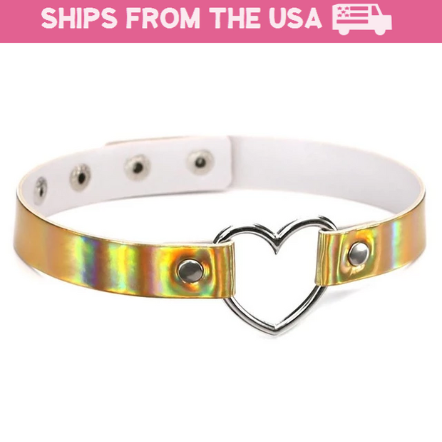 Holo Heart Ring Collar