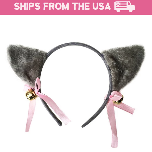 Cute Kitten Jingle Bell Ears (6 Colors Available)