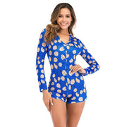 Cookie Cutie Long Sleeve Button-Up Onesie Pajamas