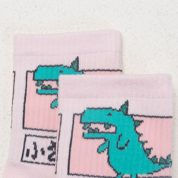 Kawaii Dinosaur Socks (3 Colors Available)