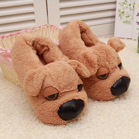 Sleepy Puppy Slippers