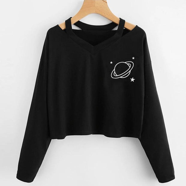 Little Space Crop Top Sweatshirt