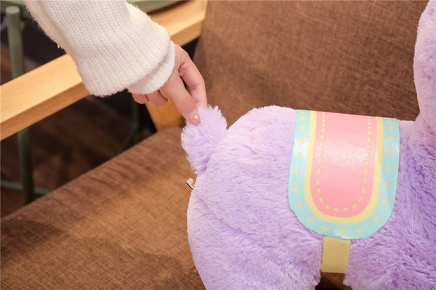 Purple Saddle Alpaca Plushie