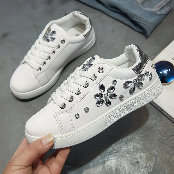 Glam Princess Rhinestone Sneakers (3 Colors Available)