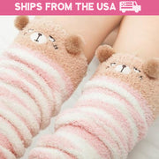 Soft Fleece Animal Thigh High Socks (11 Styles Available)