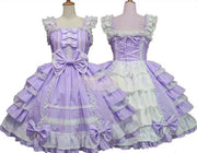 Lavender Little Princess Chiffon Lace Lolita Dress