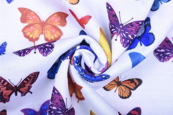 Little Butterfly Tube Crop Top