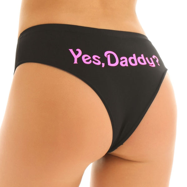 """Yes, Daddy"" Panties (2 Colors Available)"