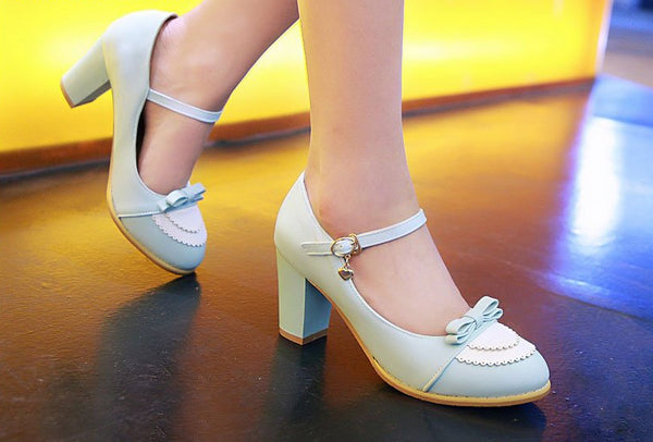 Sweet Mary Jane High Heel Pumps (3 Colors Available)