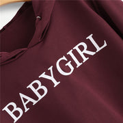 """Babygirl"" Crop Top Sweatshirt"