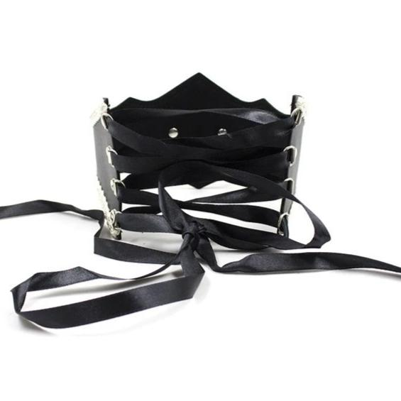 Gothic Maid Vegan Leather Collar (2 Colors Available)
