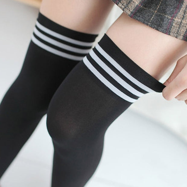 Sexy Athletic Thigh-High Socks (5 Colors Available)