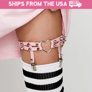 Spiked Heart Garter (3 Colors Available)