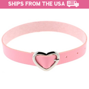 Cute Heart Buckle Collar (12 Colors Available)