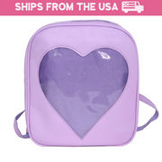 Sweetheart Transparent Backpack (6 Colors Available)
