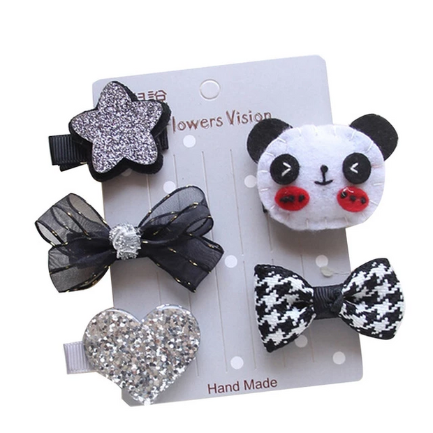Panda Bear 5-Piece Hair Accessory Set