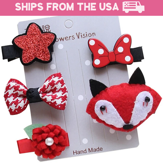 Little Fox 5-Piece Hair Accessory Set