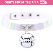 Holo Kitten Bell Collar (4 Colors Available)