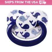 Blue Whale Adult Pacifier