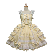 Yellow Little Princess Chiffon Lace Lolita Dress