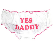 """Yes Daddy"" Ruffled Trim Panties"