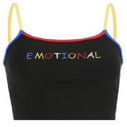"""Emotional"" Crop Top"