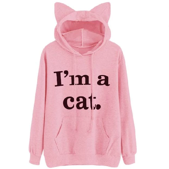 """I'm a Cat"" Cat Ear Sweatshirt (3 Colors Available)"