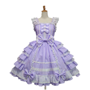 Blue Little Princess Chiffon Lace Lolita Dress