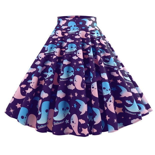 Pastel Ghost Party Skirt (2 Colors Available)