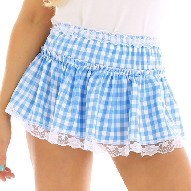 Sexy Checkered Mini Skirt (2 Colors Available)