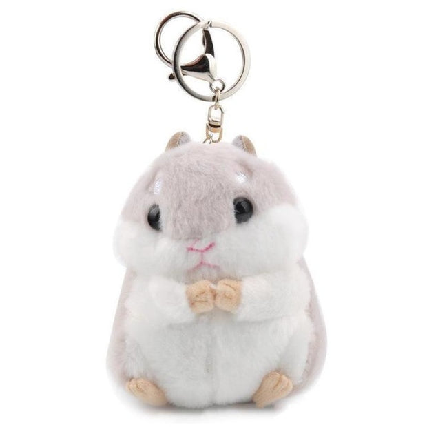 Kawaii Hamster Plush Keychain (2 Colors Available)