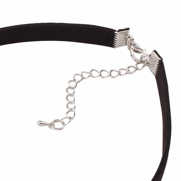 Black Crescent Moon Collar