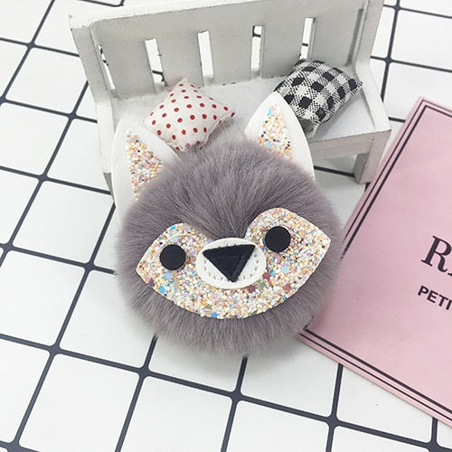 Small Fox Pompom Keychain (9 Colors Available)