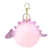 Dino Pompom Keychain (2 Colors Available)