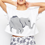 Happy Elephant Pajama Set
