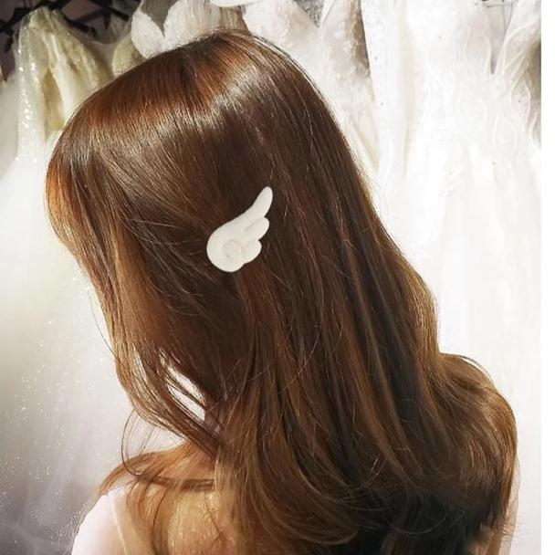 2-Piece Soft Angel Wing Hair Accessory Set