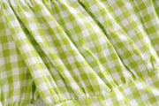Innocent Green Gingham Dolly Dress