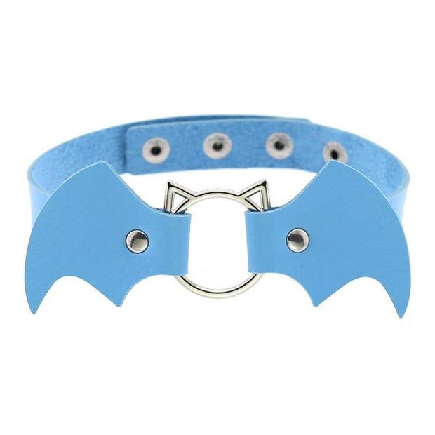 Baby Bat Wings Collar (13 Colors Available)