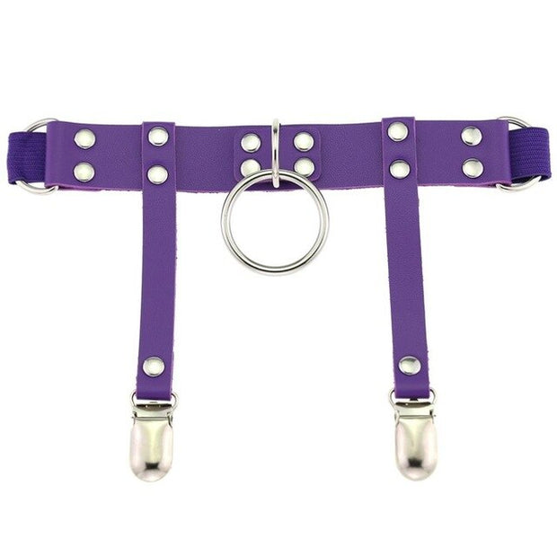 Cute Punk O-Ring Garter (7 Colors Available)