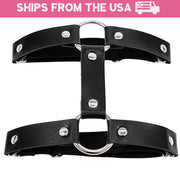Harajuku Punk Double Strap Faux Leather Garter (8 Colors Available)